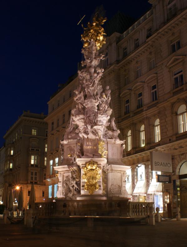 Чумна колона в Відні вночі