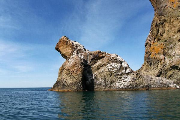 Скелі Карадагу з моря