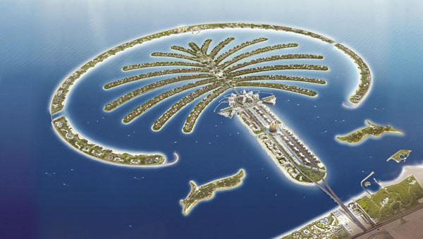 Штучний острів у вигляді пальми