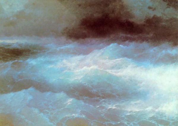 """Картина Айвазовського """"Серед хвиль"""""""