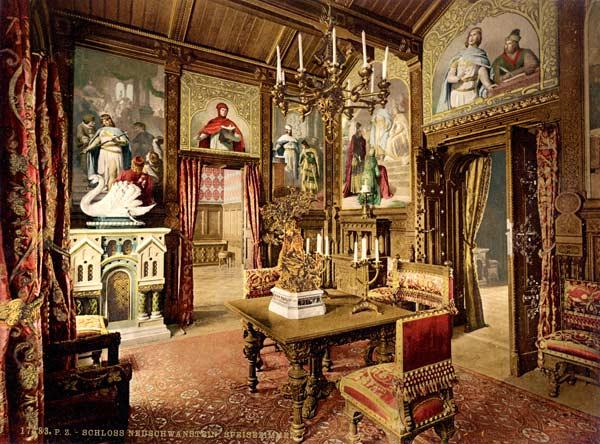 замок Нойшванштайн, обідня кімната