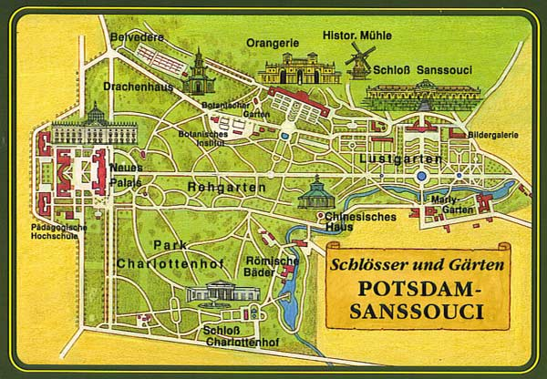 Карта парку Сан Сусі
