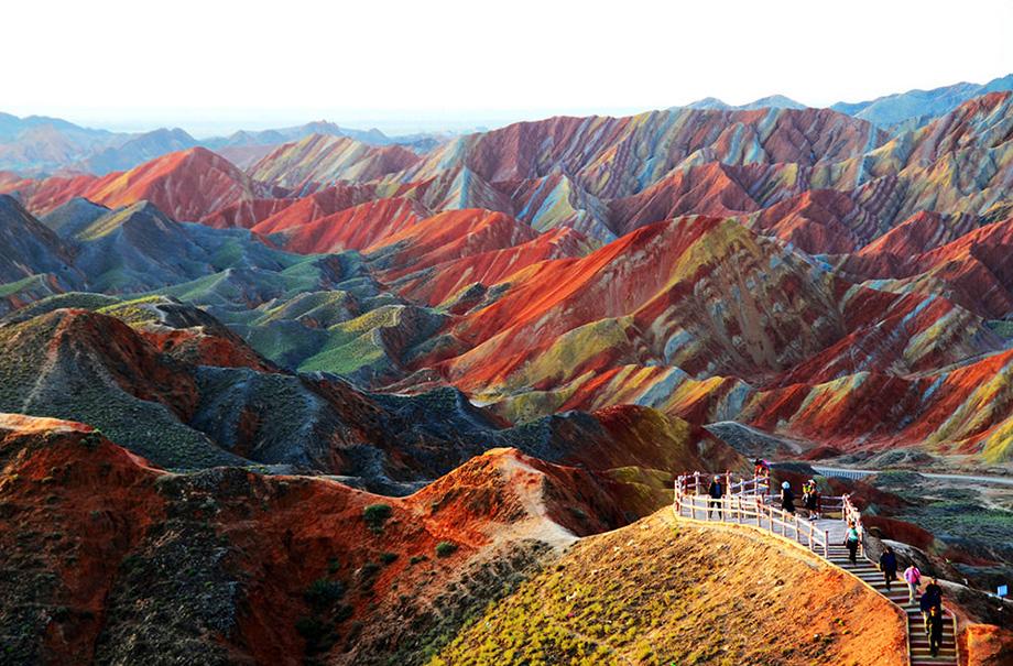 Кольорові скелі Чжаньє Данксіа, Ганьсу, Китай