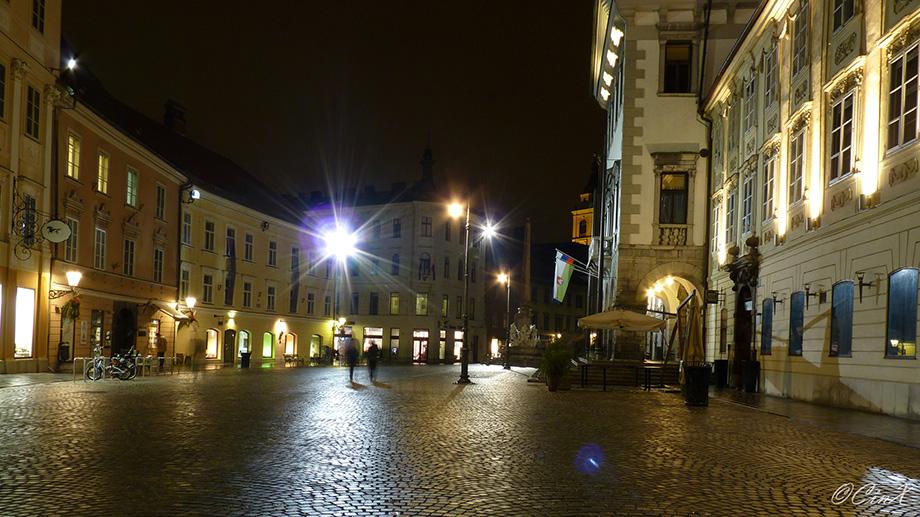 Любляна вночі