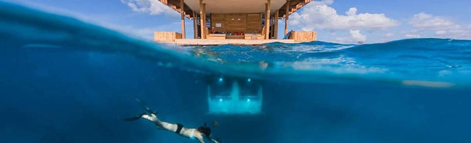 Плавучий готель з підводними номерами в Занзібарі