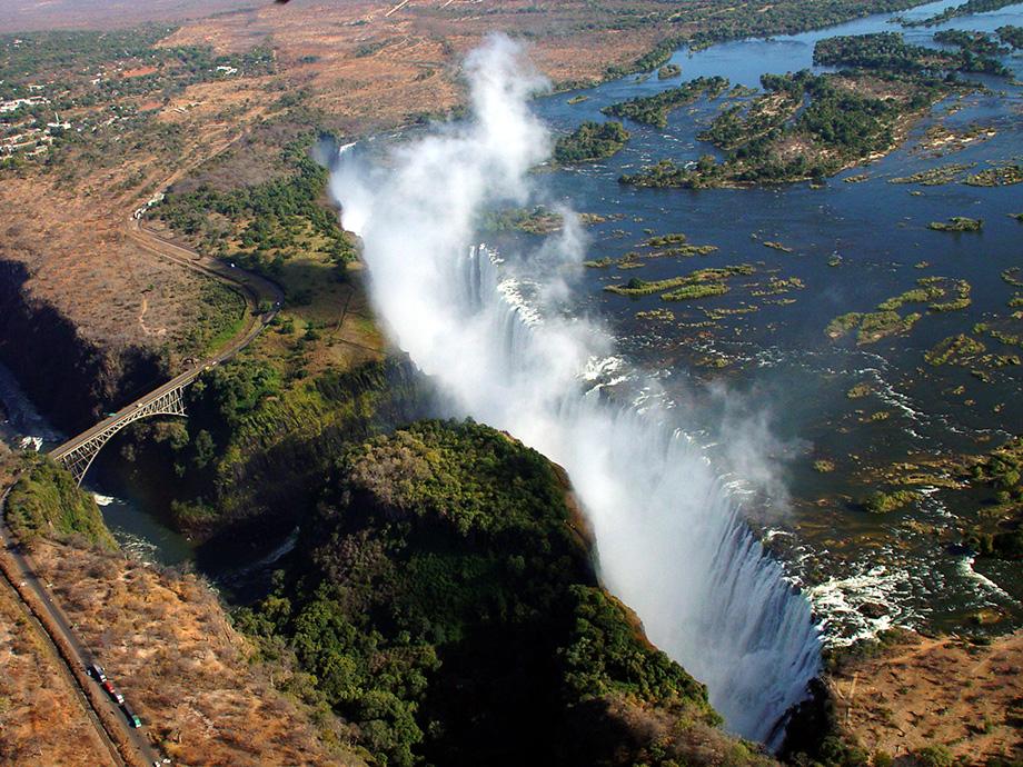 Водоспад Вікторія згори