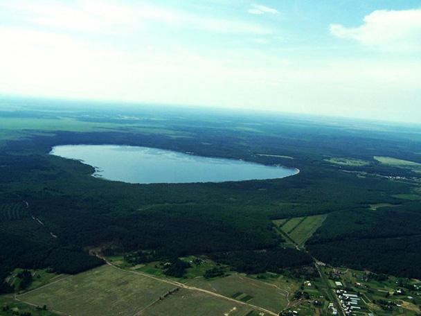 Біле озеро з повітря